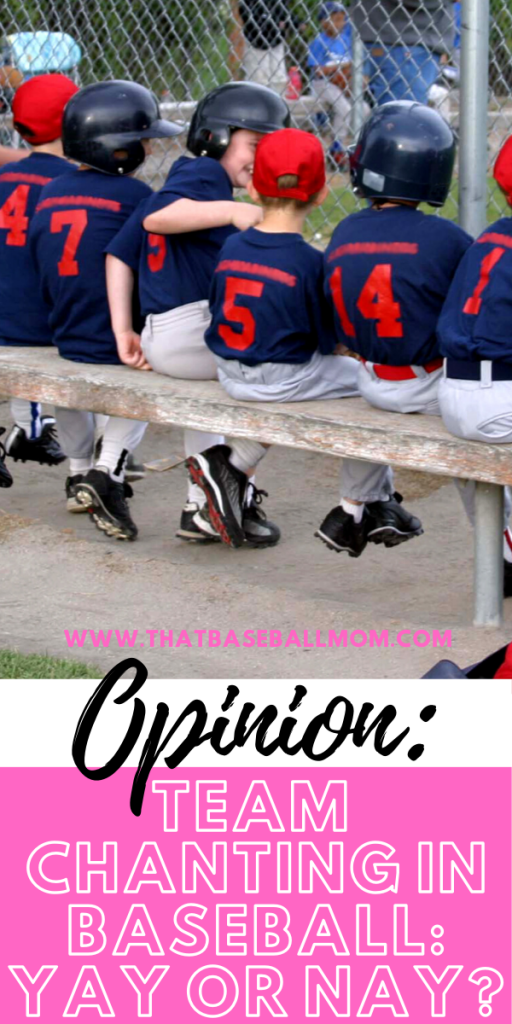 opinion: team chanting in baseball