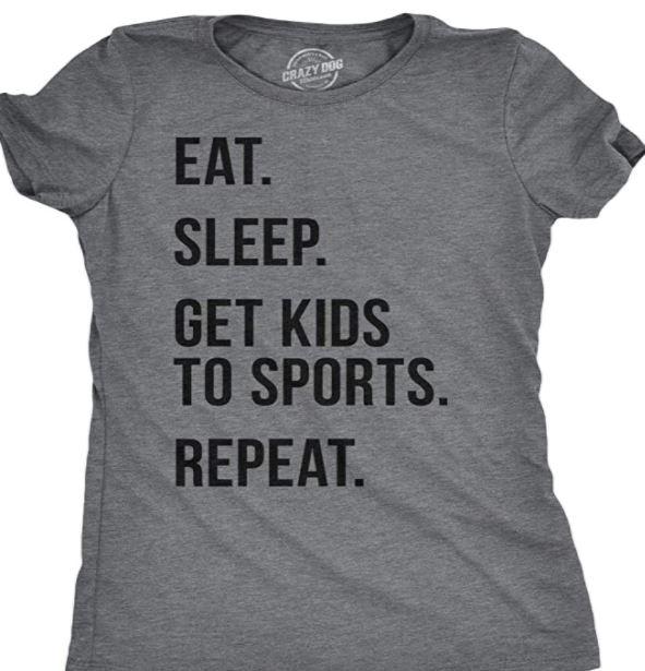 Eat Sleep Baseball mom shirt