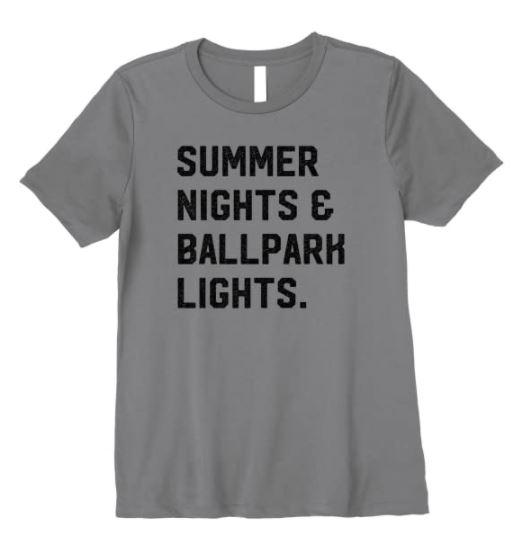 Summer Nights and Ballpark Lights Shirt