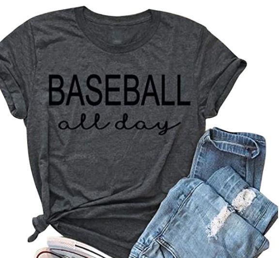 Baseball All Day baseball mom shirt idea