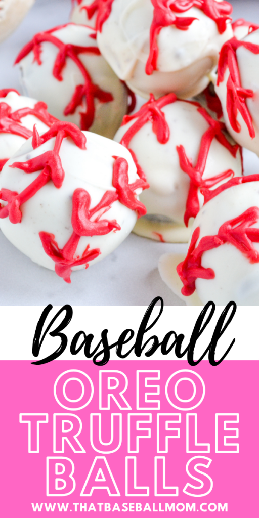 Baseball Oreo Truffle Balls