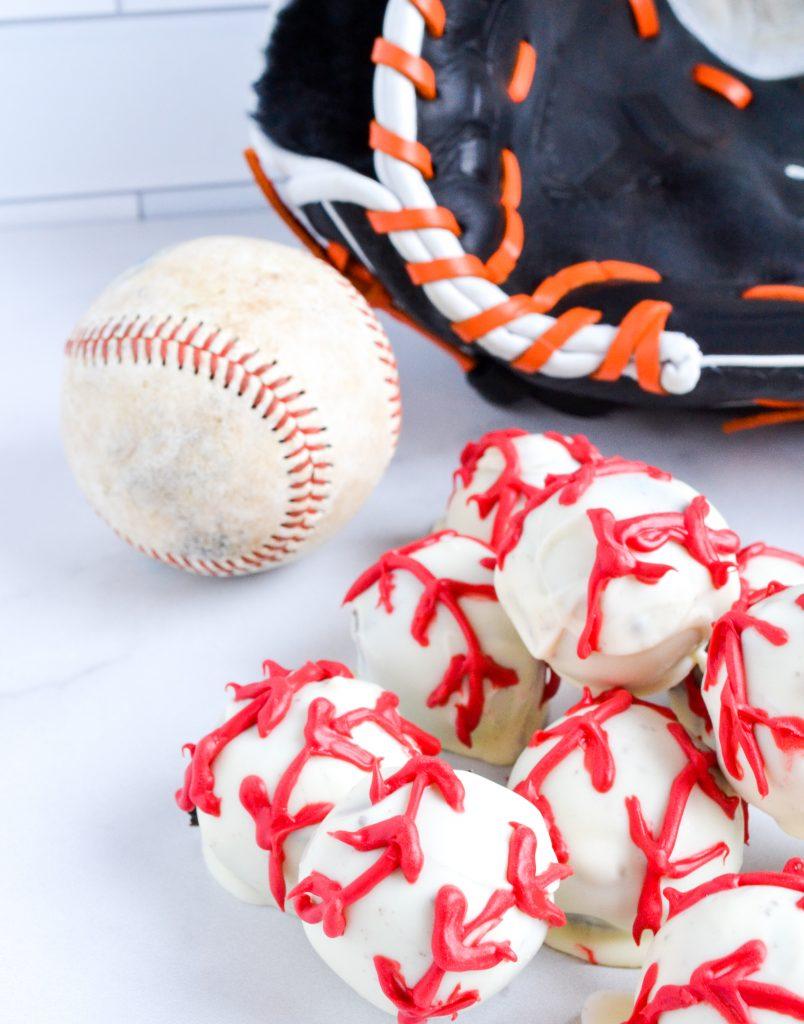 Baseball Oreo Truffles