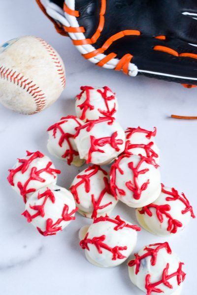 Oreo Truffles Baseball Themed