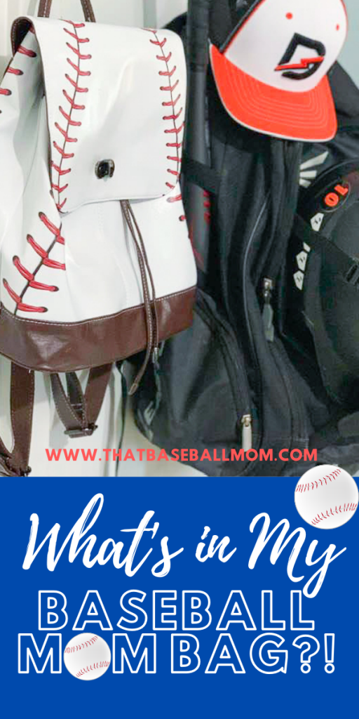 What's in my Baseball Mom Bag?