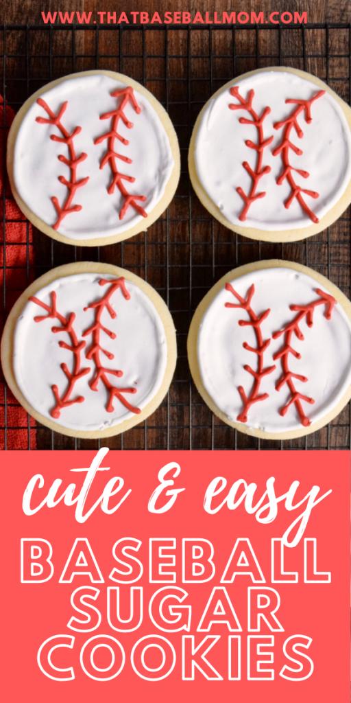 cute and easy baseball sugar cookies