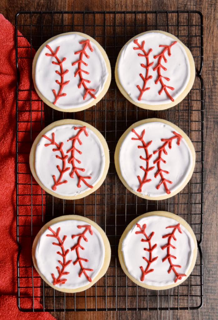 how to make baseball cookies